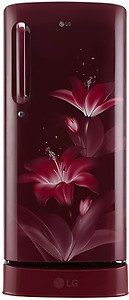 LG 190 L Direct Cool Single Door 3 Star (2020) Refrigerator with Base Drawer(Ruby Glow, GL-D201ARGX) price in India.