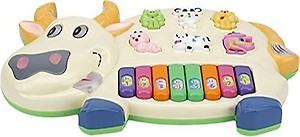 FunBlast Musical Piano for Kids with Flashing Lights, 15 Keys and 3 Modes Animal Sounds (Cow) price in India.