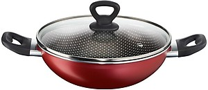 Tefal Simply Chef Non-Stick Kadhai with Lid, 24cm (Rio Red) price in India.