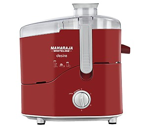 Maharaja Whiteline Desire Red Treasure 550-Watt Juice Extractor (Red and Silver) price in India.