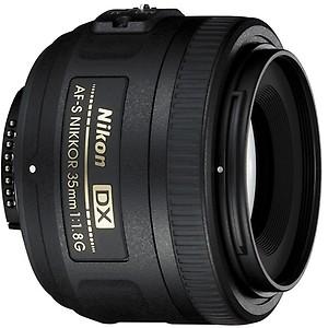 Nikon AF-S DX NIKKOR 35 mm f/1.8G Lens(Black) price in India.
