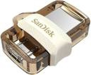 SanDisk SDDD3-032G-I35GW 32 GB OTG Drive(Gold, Type A to Micro USB) price in India.