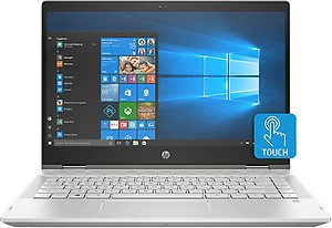 HP Pavilion x360 Core i3 8th Gen - (4 GB/1 TB HDD/8 GB SSD/Windows 10 Home/2 GB Graphics) 14-cd0050TX 2 in 1 Laptop  (14 inch, Mineral Silver, 1.68 kg, With MS Office) price in India.