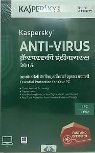 Kaspersky Antivirus 2015 1 PC 1 Year price in India.
