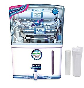 Grand Plus Aquacrux 14 stage Alkaline 12 L RO + UV + UF + TDS Water Purifier  (white blue) price in India.