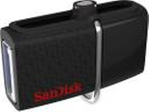 SanDisk Ultra Dual Drive 3.0 OTG 16 GB Pen Drive(Black) price in India.