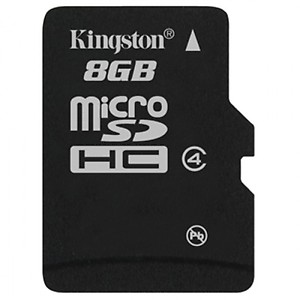 Kingston 8GB Class 4 Micro SDHC Memory Card price in India.