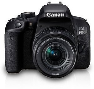 Canon EOS 800D with EF-S 18-55 is STM, 32GB Memory Card, Tripod, SLR Backpack and Pixi-Accessory Bundle price in India.