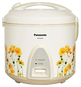 Panasonic SR-KA22A (R) Electric Rice Cooker(2.2 L, White) price in India.