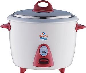 Bajaj Majesty New RCX 3 350-Watt Multifunction Rice Cooker (White/Pink) price in India.