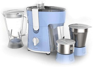 Philips Daily Collection HL7576/00 600 W Juicer Mixer Grinder(Celestial Blue & Bright White, 3 Jars) price in India.