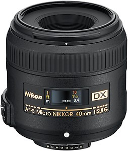 Nikon AF-S DX Micro 40mm F/2.8G Prime Lens for Nikon DSLR Camera price in India.