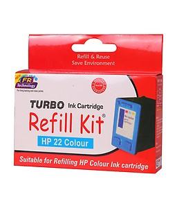 TURBO INK CARTRIDGE REFILL KIT Refill Kit for HP 22 Multi Tri-Colour Ink Cartridge price in India.