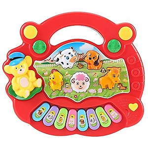 forever kidzz baby farm piano animal sound with light and music for kids baby- Multi color price in India.