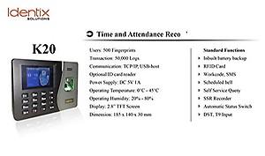 KartString Essl Identix K-20 Biometric Time Attendance Machine Price