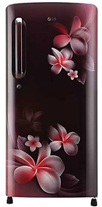 LG 190 L Direct Cool Single Door 4 Star (2020) Refrigerator  (Scarlet Plumeria, GL-B201ASPY) price in India.