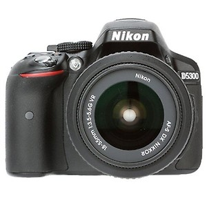 Nikon D5300 with 18-55 mm VR II Lens (Black) price in India.