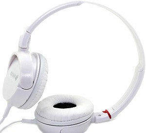 Sony MDR-ZX110A On-Ear Stereo Headphones (White) price in India.