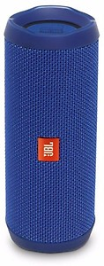 JBL Flip 4 Portable Wireless Speaker with Powerful Bass & Mic (Blue) price in India.