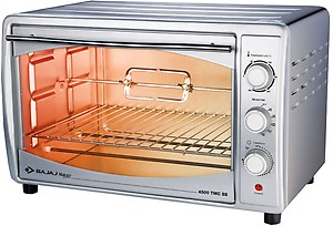 Bajaj Majesty 4500 TMCSS 45-Litre Oven Toaster Grill (Silver) price in India.