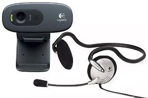 Logitech C270 HD Webcam (Black) price in India.