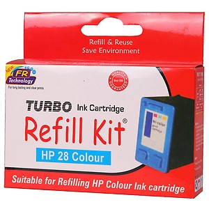 Turbo Ink Cartridge Refill Kit for HP 680 multi coIour price in India.
