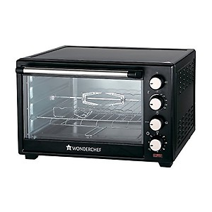 Wonderchef 40-Litre Oven Toaster Grill with Convection and Rotisserie (Black) price in India.