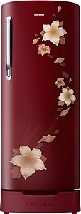Samsung 192 L 2 Star Direct Cool Single Door Refrigerator(RR19N1822R2/HL / RR19R2822R2/NL, Star Flower Red, Base Stand with Drawer) price in India.