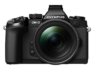 Olympus OM-D EM-1 Compact System Camera (16.3MP, Live MOS, M.Zuiko 12-40 mm Lens) 3 Inch Tiltable Touch Screen LCD, Black price in India.
