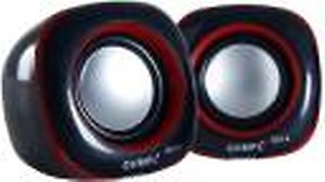 Quantum QHM602 USB MINI SPEAKER Laptop/Desktop Speaker  (Black, Red, 2.0 Channel) price in India.