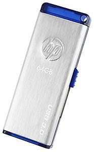 HP x730w 64 GB USB 3.0 Flash Drive (Gray) price in India.