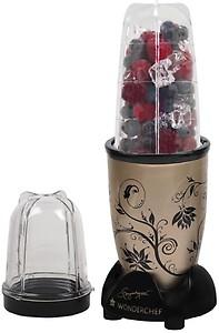 Wonderchef Nutri blend Nutri-blend Champagne with Jar 400 W Mixer Grinder(Black, Champagne, 3 Jars) price in India.