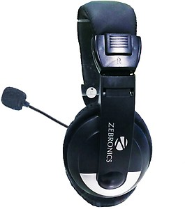 Zebronics H-100HM Headphone with Mic price in India.