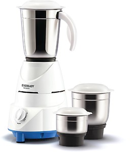 Eveready MG500i 500 W Mixer Grinder  (White, 3 Jars) price in India.