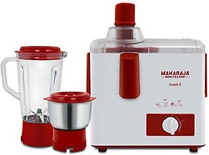 Maharaja Whiteline Mark 1 Happiness 450-Watt Juicer Mixer Grinder (White and Red) price in India.