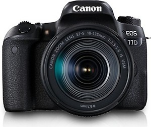 Canon EOS 77D DSLR Camera With 18-135mm USM Lens price in India.