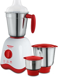Maharaja Whiteline MX- 162 Convenio (mx-162) 500 W Mixer Grinder  (White and Red, 3 Jars) price in India.