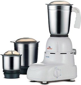 Bajaj Glory 500 W Mixer Grinder 500 W Mixer Grinder  (White, 3 Jars) price in India.