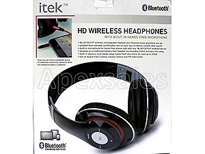 a79e1590b1a I-Tek Wireless Bluetooth Headphones with Mic for iPad, iPhone, Android  Phones (
