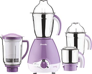 Preethi Lavender Pro 600-Watt Mixer Grinder (White/Purple) price in India.