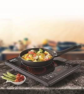 Usha IC 3616 Induction Cooktop(Black, Red, Push Button) price in India.
