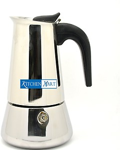 Kitchen Mart Atlasware 150 ml 2 cups Coffee Maker  (Silver) price in India.