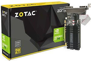 ZOTAC NVIDIA GeForce GT 710 2 GB DDR3 Graphics Card(Black) price in India.