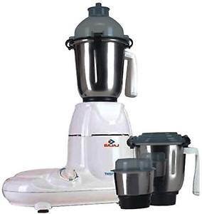 Bajaj TWISTER 410135 750 W Mixer Grinder(White, Black, 4 Jars) price in India.