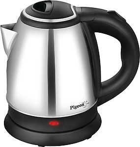 Pigeon FAVOURITE Electric Kettle  (1.5 L, Silver, Black) price in India.