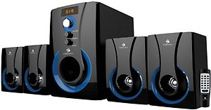 Zebronics Zeb-SW3490RUCF 4.1 Multi Media Speaker with USB and SD Card Input, FM. price in India.