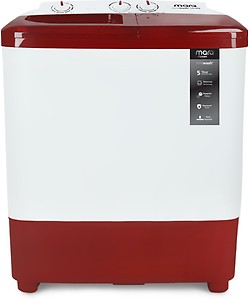 MarQ by Flipkart 6.5 kg Semi Automatic Top Load White, Maroon(MQSA65DXI) price in India.