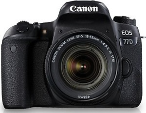 Canon Eos 77D 24.2MP DSLR Camera with 18-55mm is STM Lens and 16GB Memory Card price in India.