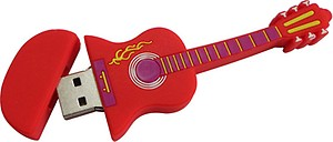 Microware Red Electric Guitar Shape 32 GB Pen Drive price in India.