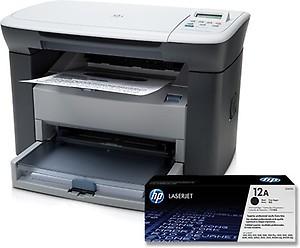 HP LaserJet M1005 MFP Multi-function Monochrome Printer(White, Black, Toner Cartridge) price in India.